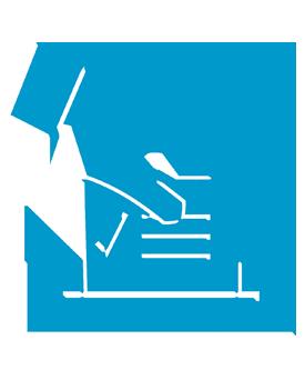 hand putting ballot in box